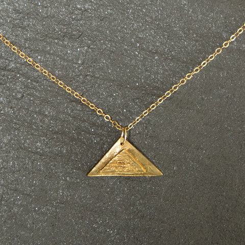impossible printed triangle pendant product stainless lurasdesign print by steel