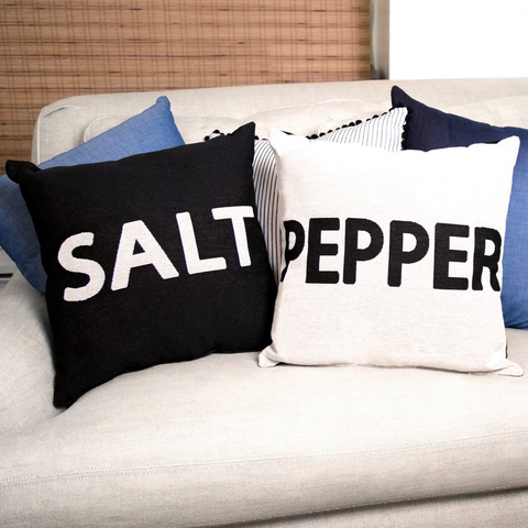 Salt & Pepper Throw Pillows
