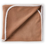 Brown Pet Blanket with Tan Trim