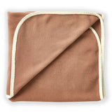 Brown Pet Blanket with Yellow Trim