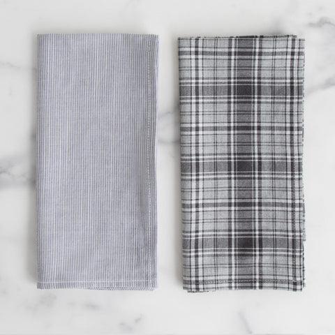 Reclaimed men's shirting napkin pairing