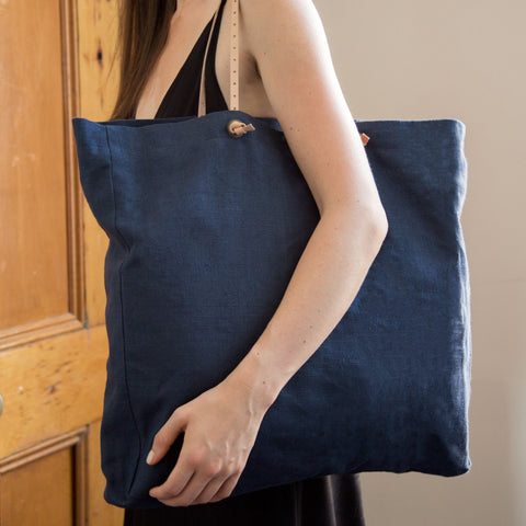 American-made Everyday Linen Tote by Celina Mancurti - Carpenter Hill