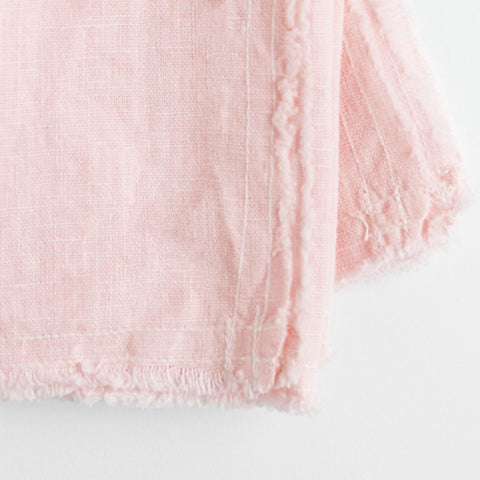 linen napkins - blush color - closeup on white background; made in usa by celina mancurti | carpenter hill