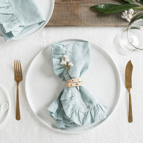 Ruffled Mint Napkins