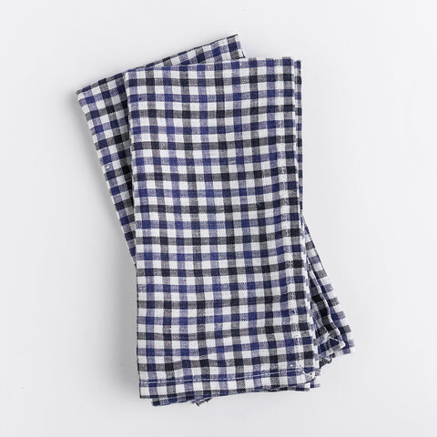 gingham napkins - blue and white - topview on white background; made in usa by celina mancurti | carpenter hill