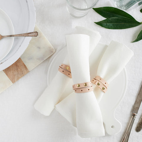 Leather Napkin Rings (4)