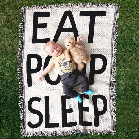 Eat Sleep Poop Blanket