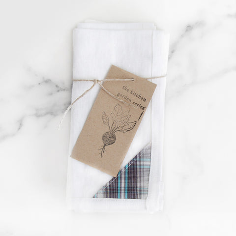 Edged White Dinner Napkins