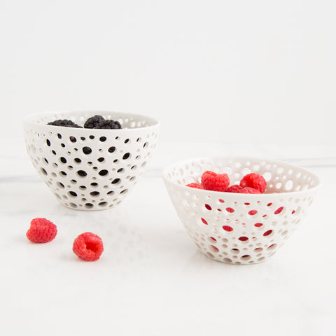 Perforated Bowls (two sizes)