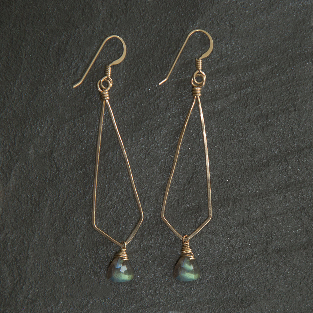 Siena Drop Earrings | Two Metals | Two Stones – Carpenter Hill