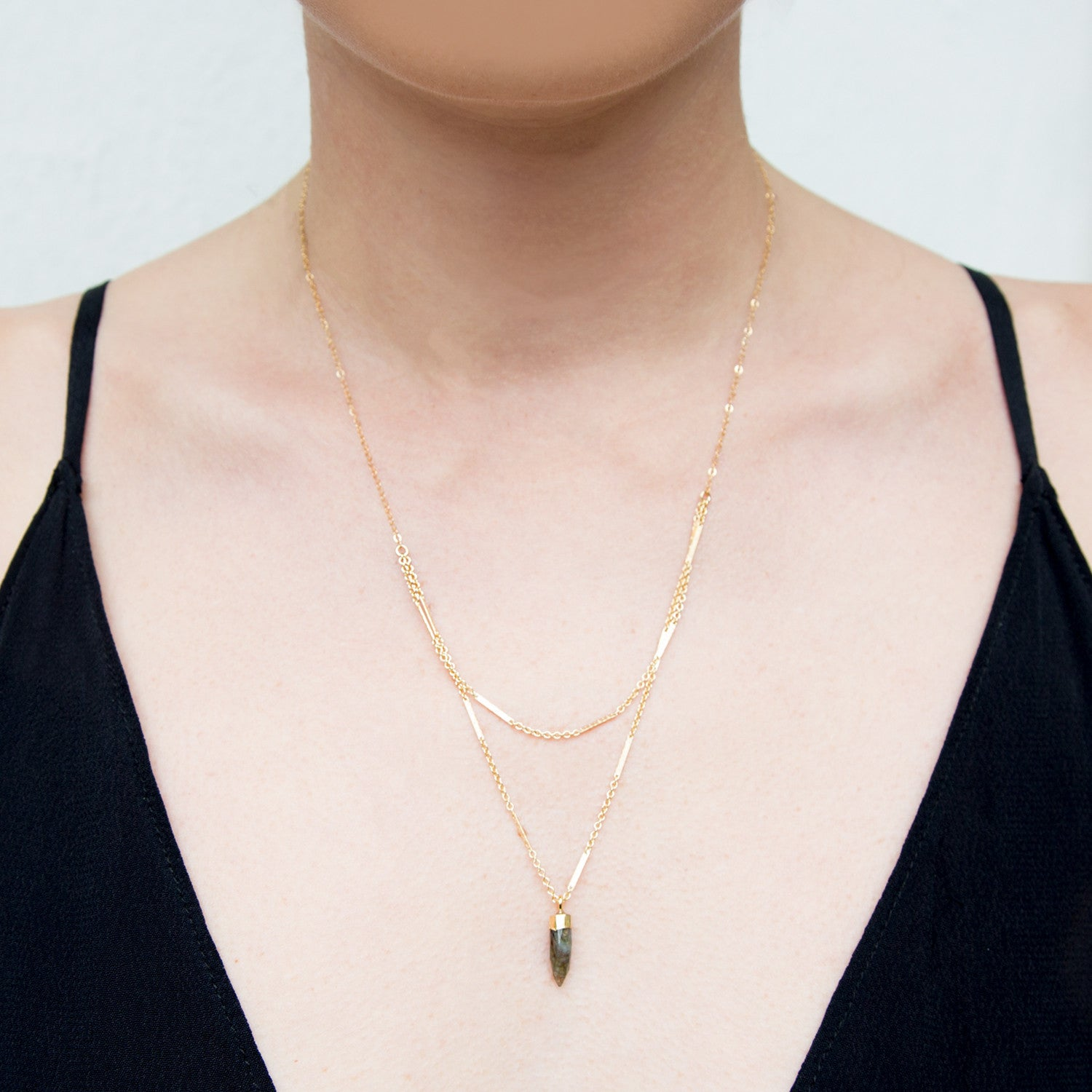 Sexy Gold Labradorite Layered Necklace
