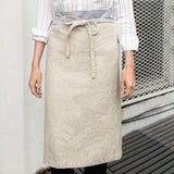 Full body of linen bistro apron
