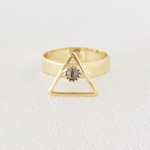 Triangle Ring on White
