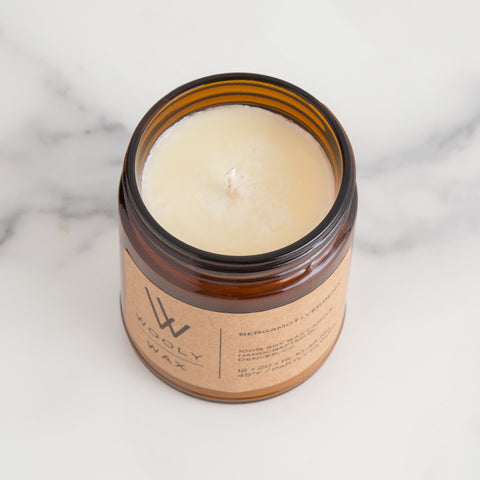 American-made Bergamot | Verbena Candle by Wooly Wax Candles - Carpenter Hill