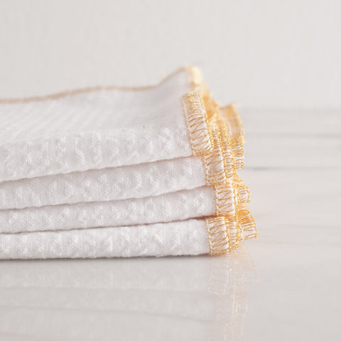 American-made Gold Edge Dinner Napkins by Dot and Army - Carpenter Hill