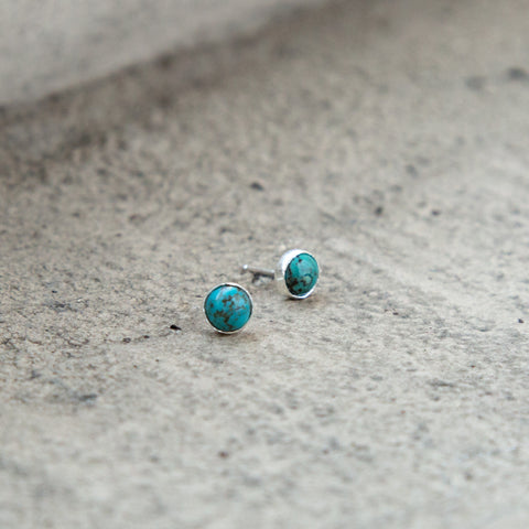 American-made Mini Turquoise Posts by Christina Nicole - Carpenter Hill