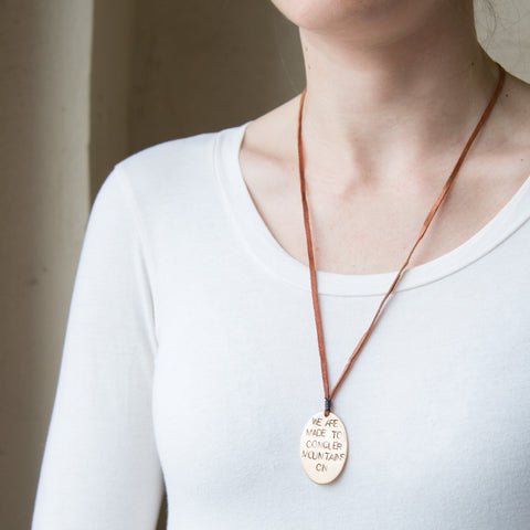 American-made Mountain Range Pendant by Christina Nicole - Carpenter Hill