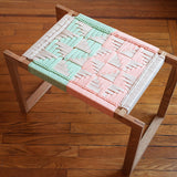 American-made Coral + Mint Stool by Peg Woodworking - Carpenter Hill