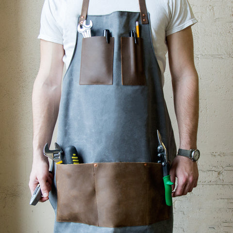 American-made Heavy Duty Work Apron by Cordwood Handmade - Carpenter Hill