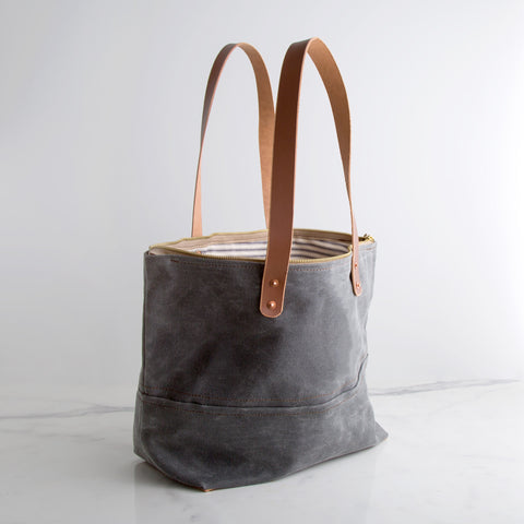 American-made Canvas Market Tote by Cordwood Handmade - Carpenter Hill