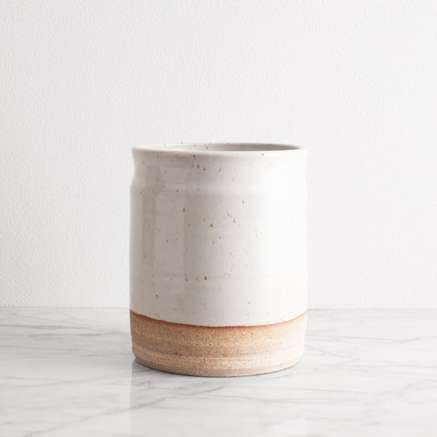 American-made Utensil Jar by Hanselmann Pottery - Carpenter Hill