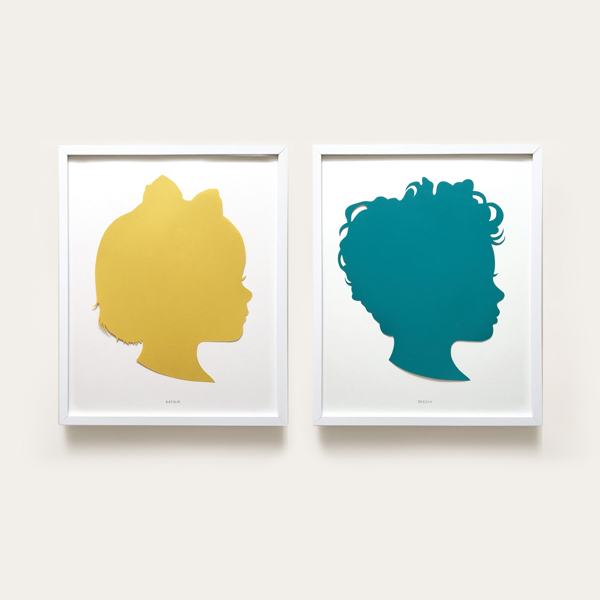 American-made Custom Paper Silhouette by Love & Victory - Carpenter Hill
