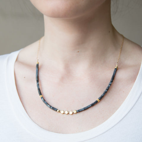 American-made Brass Dot Necklace by Pink Midnight - Carpenter Hill