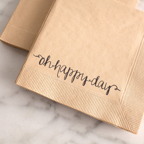 Oh Happy Day Napkins