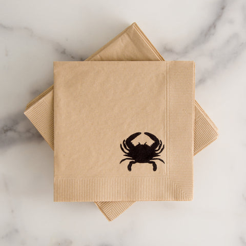 American-made Crab Cocktail Napkins by With Love + Ink - Carpenter Hill