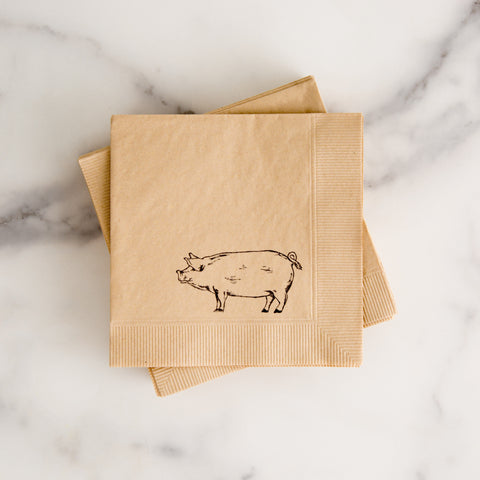 Pig Cocktail Napkins