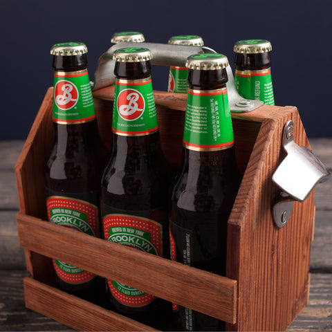 American-made Six Pack Holder by Wood Thumb - Carpenter Hill