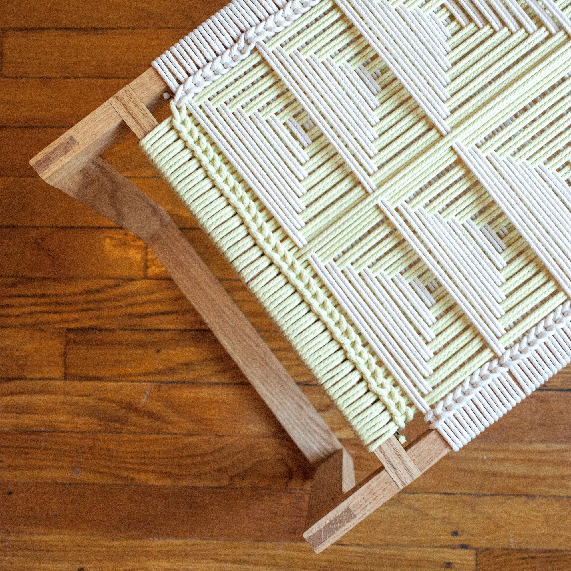 American-made Lemon + White Stool by Peg Woodworking - Carpenter Hill