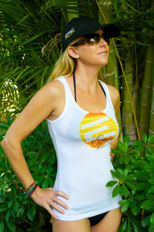 T-SHIRT LADIES WHITE TANK TOP