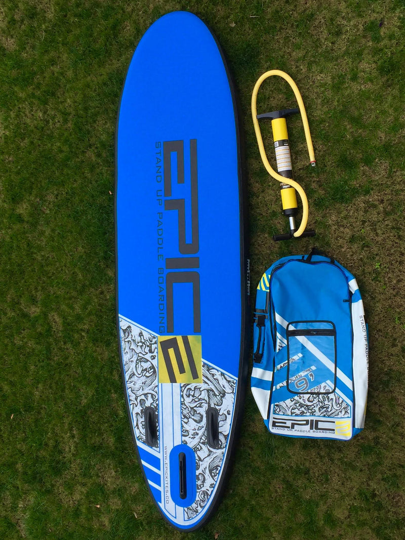"Prototype of Inflatable Stand Up Paddleboards (SUP) 9'0"" (BLUE) (USED)"