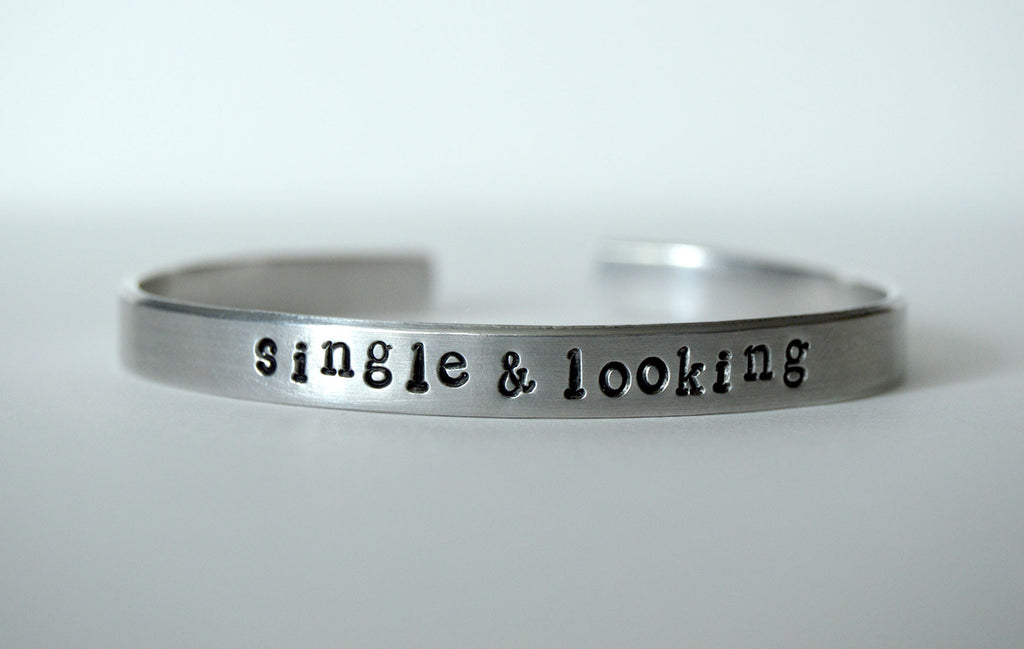 Single & Looking Bangle Bracelet