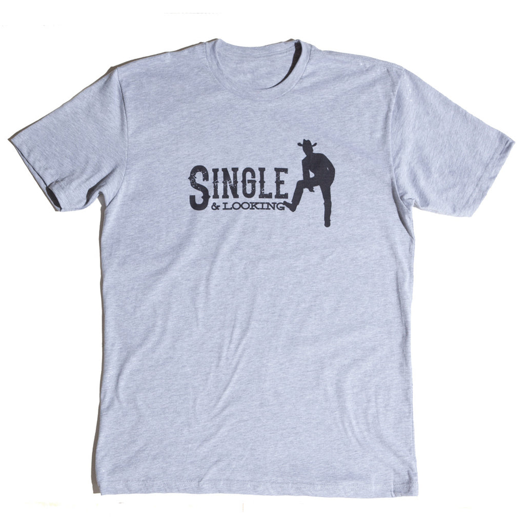 Men's Cowboy Tee - Heather Grey