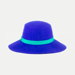 Audrey Hat: Electric Blue