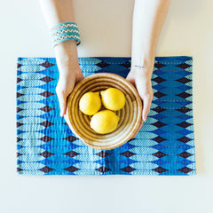 Turquoise Patterned Placemats (Set of 4)