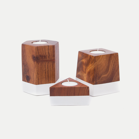 Dipped Geometric Candle Holders