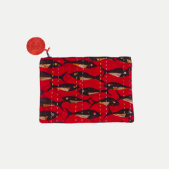 Kitenge Pouch: Red Fish (Large)