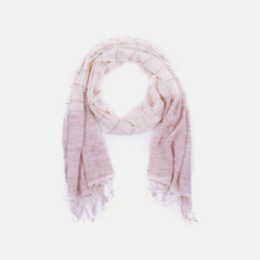 Scout Scarf: Cream & Rose