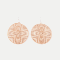 Woven Spiral Earrings: Tea (Large)