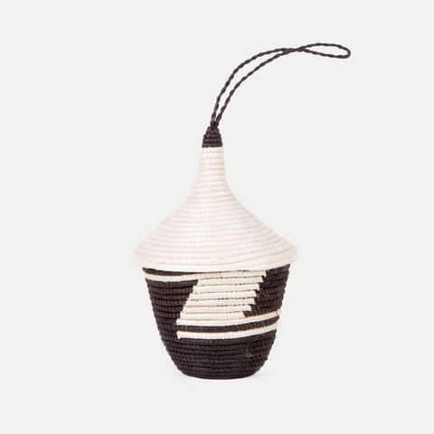 Agaseke Peace Basket: Black & White