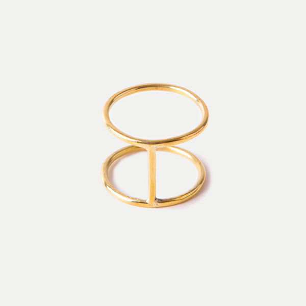 Kizimba Ring: Brass
