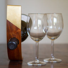 Gold Dipped Wine Holder