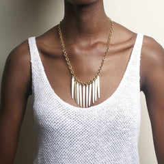 Sasi Necklace: White