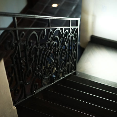 wrought iron railing staircase spanish