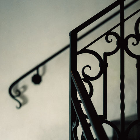 wrought iron staircase railing french