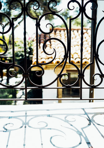 railing wrought iron balcony spanish colonial