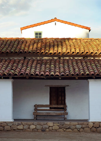 red tile terra cora roof in Santa Barbara- DLG Lighting Co.